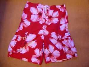 ABERCROMBIE & FITCH Red/White Patterned Shorts Size XL