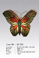 Tiffany Lampe Schmetterling grün rot, beidseitig Tiffanylampe Tischlampe neu S0