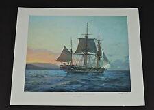 Geoff Hunt - HMS Beagle off Galapagos - Nautical & Maritime Print