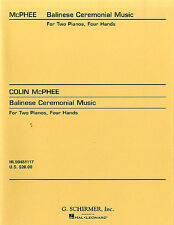 Colin McPhee Balinese Ceremonial Music Learn to Play Piano Music Book