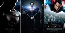 Justice League SET OF 3 SUPERMAN ORIGINAL Man of SteeL 27x40 Movie Poster