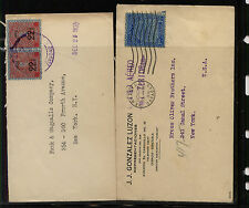 Venezuela  2  covers  with over all overprinted stamps      MM0523