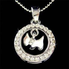 Scottie w Swarovski Crystal WESTIE ~Scottish Terrier DOG~ Pendant Chain Necklace