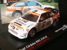 SEAT CORDOBA WRC EVO III #9 RALLYE DE OURENSE 2005 CRIVILLE MUNTADA IXO 1/43