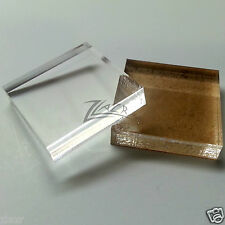 """100 1.25""""x1.25""""x1/4"""" THICK Clear Acrylic Squares Gem Mineral Display Base Tiles"""