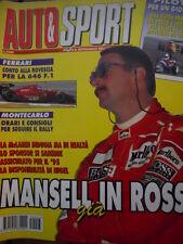 Auto & Sport ROMBO 3 1995 Mansell conto alla rovescia per la 646 F1 - Mansell Mc