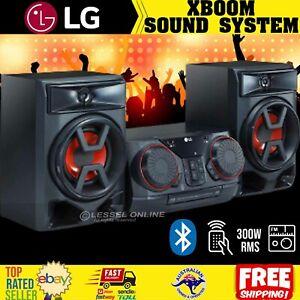 RMS 300W Bluetooth Mini HiFi System FM Radio CD Player Jukebox USB Port AUX Jack