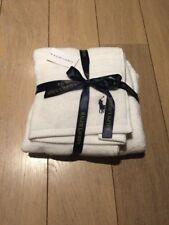 'Ralph Lauren' BNWT Set of 2 Towels .. 1x Hand And 1x Bath White