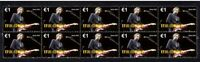 ERIC CLAPTON 'SLOWHAND' STRIP OF 10 MINT VIGNETTE STAMPS 1