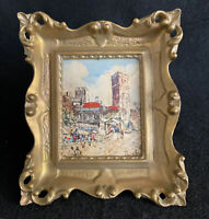 Antique Italian Florentine Italy Picture Frame Gold Gilt Wood Harvesting