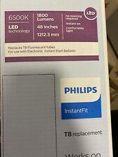 Philips LED Tube Light Bulb T8 Daylight 32 Watt Equivalent 4 Ft Linear (10-PACK)