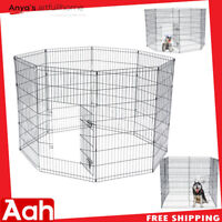 """42"""" Tall Pet Dog Cat Wire Fence Folding Exercise Yard 8 Panel Metal Play-Pen"""