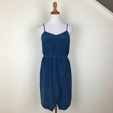 Madewell NWT In Pure Silk Mini Dress With Adjustable Strap $145 Front Slit 8