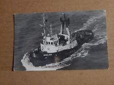 Postcard Shipping  Tug boat Engeland Real photo unposted.