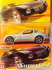 Matchbox Superfast  Pontiac Solstice Silver 1/8000 Rare And Hard To Find