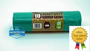 10/'s on a roll Heavy Duty GREEN GARDEN Refuse Sacks Bin Bags 300pcs 30 Rolls