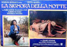 fotobusta lobby card LA SIGNORA DELLA NOTTE SCHIVAZAPPA SERENA GRANDI