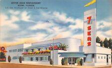 (698) Vintage Postcard of Seven Sera Restaurant, Miami, Fla.