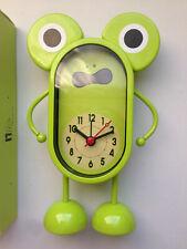 HAPPY FROG  METAL ALARM CLOCK GREEN Kids Bedside Table Girls Boys Birthday Gift