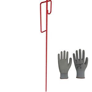 10 Stück Absperrleinenhalter Leinenhalter Laterneneisen Absperrhalter +Handschuh