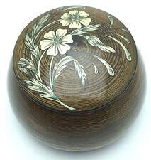 Antique Decorative Round Jewelery Wooden Box Gift Hand Made in Ukraine SMPK0044