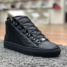 "BALENCIAGA⚡️""Arena"" black high top las leather sneakers size 43/10 412381"