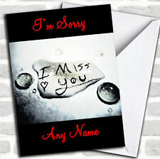 I Miss You I'M Sorry Customised Card