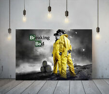 BREAKING BAD -FRAMED CANVAS WALL ART CLASSIC SHOW PICTURE PAPER PRINT- YELLOW