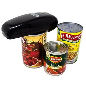 As Seen On TV Black Handy Can Opener Automatic One Touch Electric Can Opener