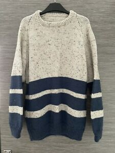 """Hand Knitted Mens Jumper Not Worn 44"""" Chest"""