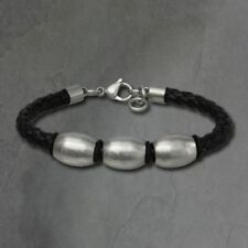 Unisex Modeschmuck-Armbänder aus Edelstahl mit Perlen