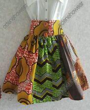Odeneho Wear Ankara/African Print Women Skirt With Wide Waistband/ Pocket.Size M