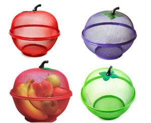 "Fruit Basket Kitchen Mesh Fresh Vegetabl Bowl 10"" Dinning Table Fruit Net Basket"