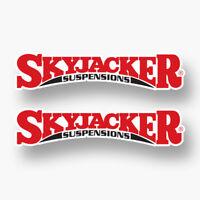 2x SKYJACKER Sticker Vinyl Decal Sponsor Logo Lift Shocks 4WD Hydro