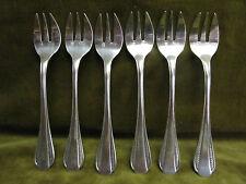 6 fourchettes à huitre métal argenté ercuis art deco écailles (oyster forks)