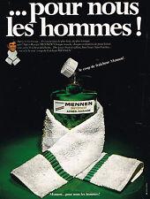 PUBLICITE ADVERTISING 035  1970  MENNEN   après- rasage