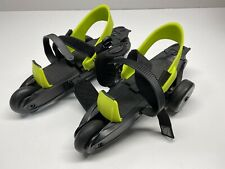 Cardiff Cruiser Roller Skates Adjustable Youth 5-12 Boy 6-12 Girl Blk Neon