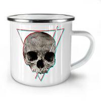 Abstract Rock Goth Skull NEW Enamel Tea Mug 10 oz | Wellcoda