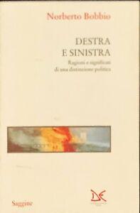 DESTRA E SINISTRA - NORBERTO BOBBIO - DONZELLI 1994