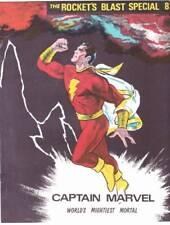 ROCKET'S BLAST SPECIAL #8 - 1970 fanzine - Captain Marvel issue, Don Newton art