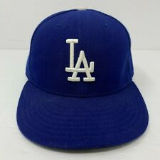 Los Angeles Dodgers New Era 59Fifty Fitted Hat Blue MLB Cap Size 7 EUC