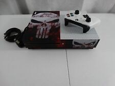 Microsoft Xbox One S 500 gb Console Slim System w/ Punisher Skull Skin