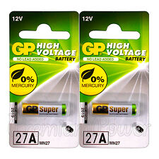 2 x GP 27A Alkaline Super batteries 12V MN27 A27 GP27A E27A EL812 L828 Pack of 1