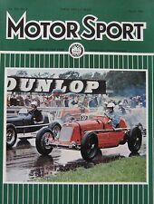 Motor Sport magazine 08/1966 featuring Oldsmobile Toronado road test, Broadspeed