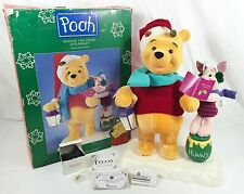 """Christmas Animated 21"""" WINNIE The POOH PIGLET TELCO Motionette Vtg 95 COMPLETE!"""