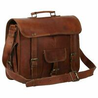 Large voguish Vintage Style Handcrafted Leather Satchel Briefcase Laptop Bag