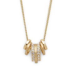 Gold plated circles necklace with crystals in gift bag   Pilgrim Jewellery