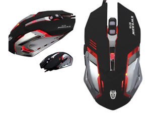 USB Wired Gaming TOZ 2400 DPI Multi Color Change 6 Buttons PC Lap top Mouse
