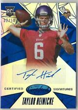 2015 Panini Certified TAYLOR HEINICKE MIRROR BLUE RC AUTO /50 WFT OLD DOMINION