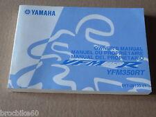 MANUEL UTILISATEUR DU PROPRIETAIRE YAMAHA YFM 350 RT RAPTOR 2005 Owner's manual